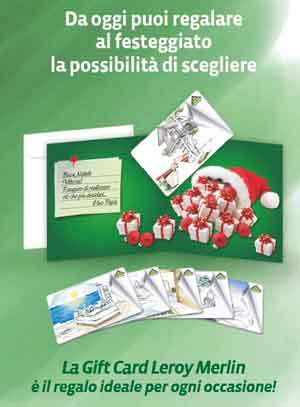 Leroy merlin propone le nuove gift card natalizie for Decorazioni natalizie leroy merlin